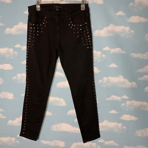 Forever 21- Black Skinny Pants with Metal Studs 27